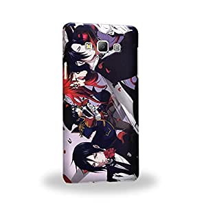 Case88 Premium Designs Black Butler Ciel Phantomhive Sebastian Michaelis Demon Butler 1519 Carcasa/Funda dura para el Samsung Galaxy A7