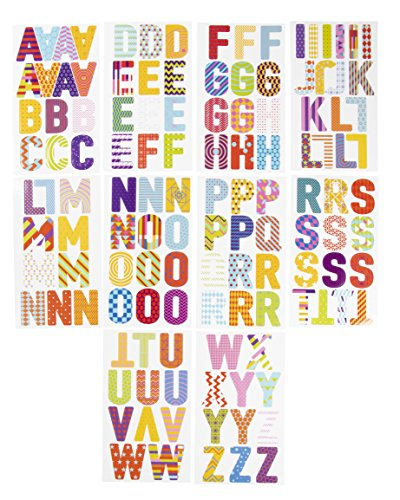Letter Stickers - 333-Count Alphabet Stickers A-Z, Colorful Uppercase Letter Sticker Labels for Kids, Teachers, Students, Good for Crafts, Classroom Decor, Bulletin Boards, 2.5 inches - Inch 2 Letter Stickers