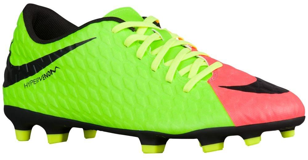 Nike Fußballschuh HYPERVENOM PHADE III FG Größe 9, Farbe  rot grün