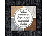 Reflections The Difference I Make Today, Teacher Gifts, Parents Gifts, 6x6 75527CH