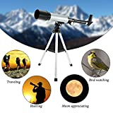 Flying Birds Land & Sky, Optical Glass & Metal Tube Refractor Telescope (90X Power) With Tripod & 2 Eyepieces