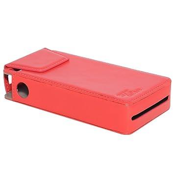 Ritz Gear Funda de Piel Sintetica para impresora Kodak Mini PM210 - Diseño personalizado de ajuste perfecto (Rojo)