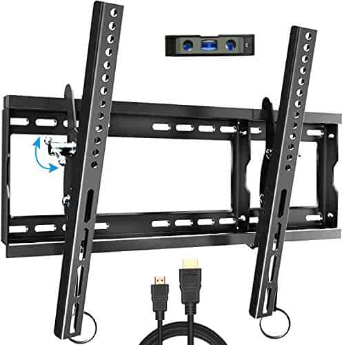 Everstone Tilt TV Wall Mount Bracket for Most 32-80 Inch LED,LCD,OLED,Plasma Flat Screen,Curved TVs,Low Profile,Up To VESA 600 x 400 and 165 LBS,Includes HDMI Cable and Level,Fits 16
