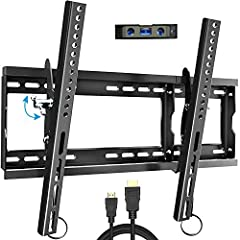 "Everstone tilting low profile TV wall mount fit for Most 32-80"" LED,LCD and Plasma Flat Screen TVs. We work directly with the manufacturing process ensuring our brand has top quality steel, it will safely secure your precious flat screen TV o..."