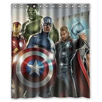 Amazon.com: Superhero the Avengers Custom Shower Curtain ...