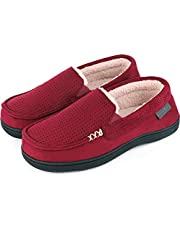 Women's Comfy Suede Memory Foam Moccasin Slippers Warm Sherpa Lining House Shoes with Anti-Skid Rubber Sole