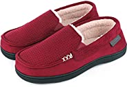 Women's Comfy Suede Memory Foam Moccasin Slippers Warm Sherpa Lining House Shoes with Anti-Skid Rubber