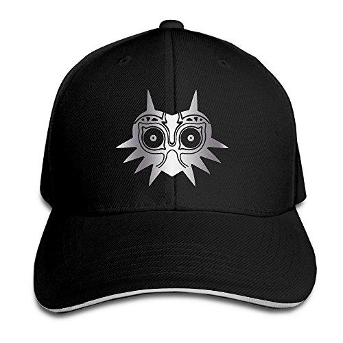 [KMRR Legend Of Zelda Majora Platinum Style Flex Baseball Cap Black] (Hockey Mask For Sale)