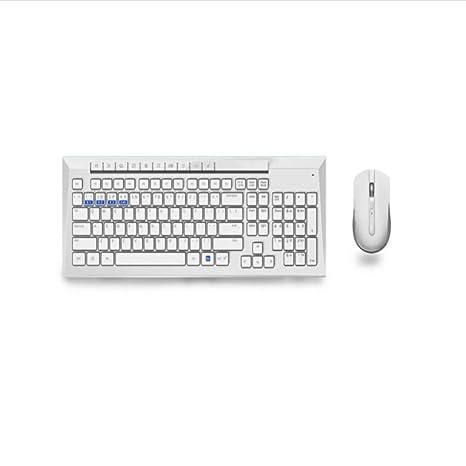 RLYJJP Conjunto de Teclado y Mouse inalámbricos multimodo Teclado Bluetooth Teclado de computadora Teclado de computadora