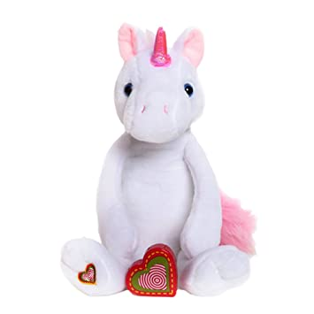 My Baby S Heartbeat Bear Vintage Stuffed Unicorn With A 20 Second Voice Sound Recorder