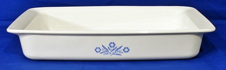Corning Ware Blue Cornflower Roaster, Lasagna Pan 12' x 7 1/2 x 2 - P-332