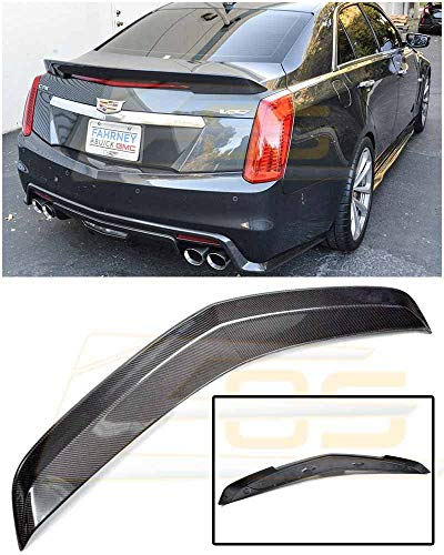 Extreme Online Store Imperfect - for 2016-Present Cadillac CTS-V | EOS Carbon Package Style Rear Bumper Carbon Fiber Trunk Lid Spoiler Wing Lip