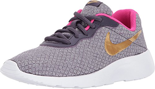 NIKE Kids Tanjun (PS) Dark Raisin Metallic Gold Pink Size 3