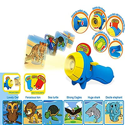 shengyuze Projector Toy Learning Toys Kids Animal Pattern Projector Flashlight Torch Toy Sleeping Story Education Gift: Toys & Games