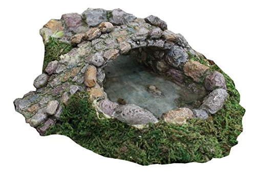 Cheap Marshall Home and Garden Stone Pond and Bridge Miniature Fairy Garden Accessory #MG16
