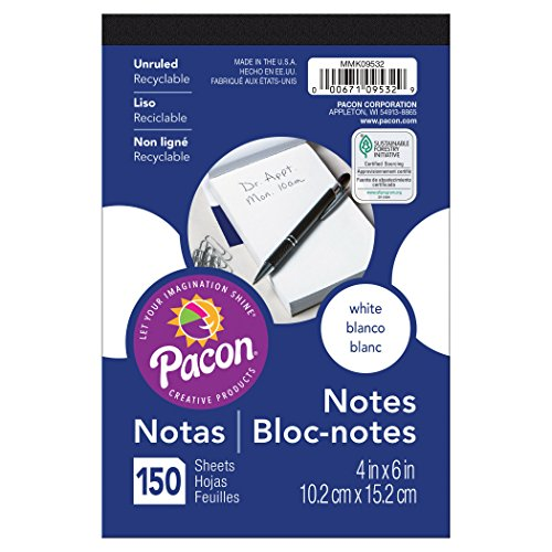 Pacon MMK09532 Convenient  Note Pad,  White from Pacon
