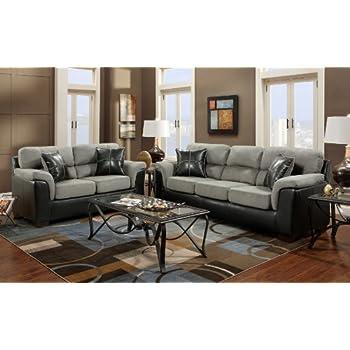 Amazon Com Roundhill Furniture Laredo 2 Toned Sofa And