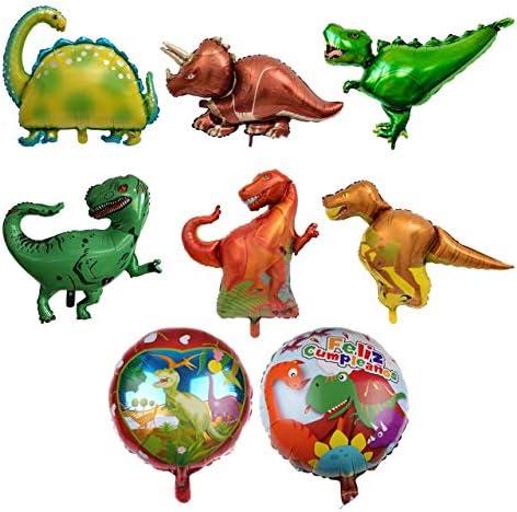 [スポンサー プロダクト]Felimoa アルミバルーン 恐竜 ドラゴン 装飾 恐竜風船 バルーンアート 風船 飾り (8個セット)