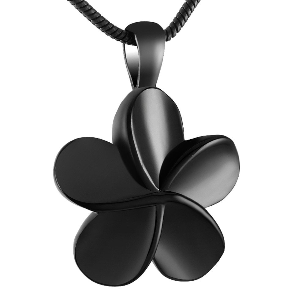 love of life SS8026 Five-Petaled Flowers Keepsake Necklace Cremation Ashes Keepsake Urn Pendant Necklace
