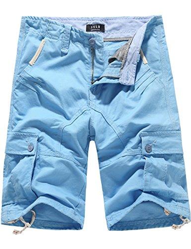 SSLR Men's Summer Solid Cotton Outdoor Wear