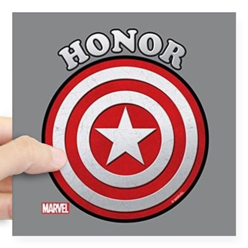 CafePress Captain America Honor Square Sticker 3 X 3 Square Bumper Sticker Car Decal, 3