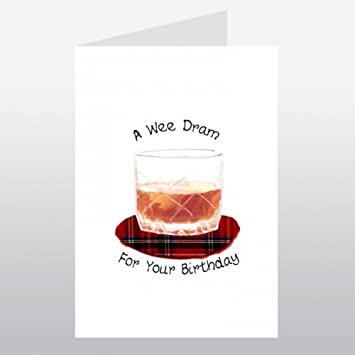Embroidered Originals Wee Wishes A Wee Dram For Your Birthday Card