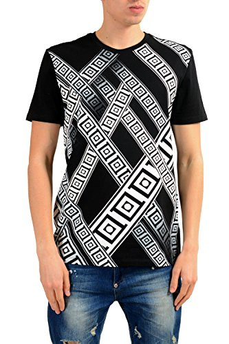 Versace Collection Men's Black Graphic Print T-Shirt US XL IT 54 (Versace Men Tshirt)