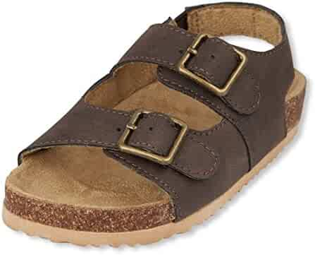 The Children's Place Kids' TB DBL Bckl Scou Flat Sandal