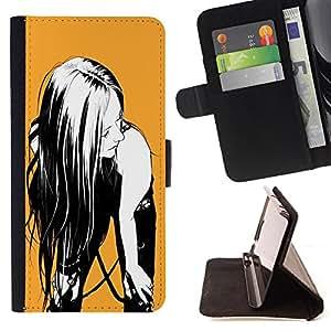 Jordan Colourful Shop - FOR Sony Xperia M2 - Will is power - Leather Case Absorci¨®n cubierta de la caja de alto impacto
