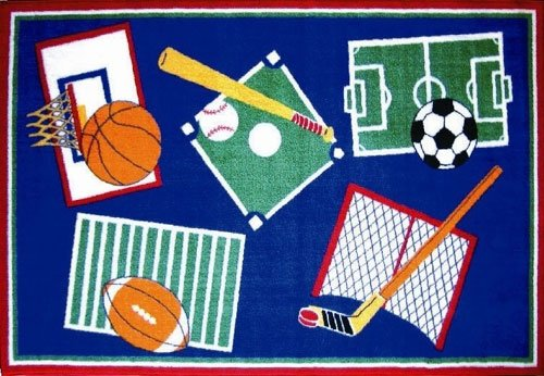Sports-A-Rama Kids Rug - Size 39