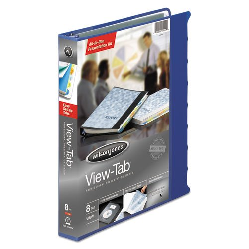 Wilson Jones® View-Tab® Round Ring View Binder With Tabs BNDR,VIEW-8TAB,BE K60098 (Pack of8)