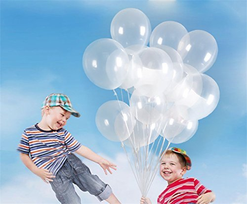 12 Inch Latex Balloons Crystal - 100pcs 12 Inch 2.8g/pc Clear Latex Balloons Transparent Balloon Wedding/Party/Brithday Decoration Ball Globos