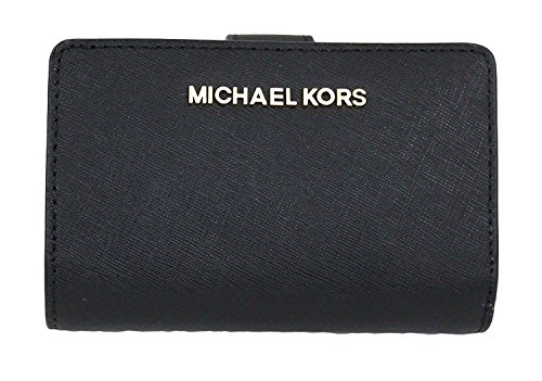 MICHAEL Michael Kors Jet Set Travel Bifold Zip Coin Wallet (Black)