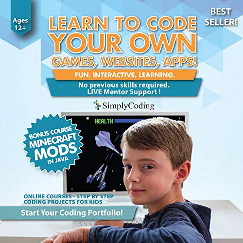 (Simply Coding for Kids - Learn to Code - Program Computer Games, Websites, Apps, Minecraft Mods (Ages 12+) - Programming Animation Design Software - Pre-Paid Gift Card (PC & Mac))