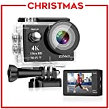 Action Camera ZONKO 16MP 4K Sony Sensor 4X Zoom Wi-Fi...