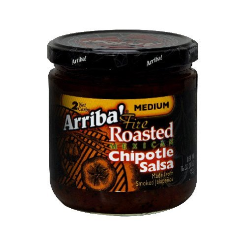 Arriba! Chipotle Salsa, 16-Ounce Glass (Pack of 6) by Arriba!