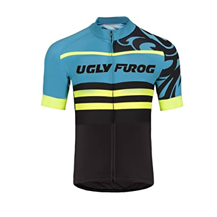 9338cc5ce Image Unavailable. Image not available for. Color  Uglyfrog 2018 New Mens  Short Sleeve breathable Cycling Jersey Outdoor Sports Summer ...