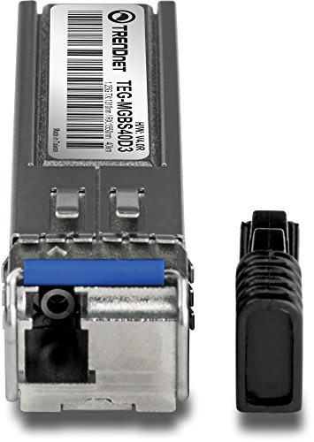 TRENDnet SFP Dual Wavelength Single-Mode LC Module 1310/1550,Version v4.0R, Compatible with Standard SFP Slots, Up to 40 Km (24.9 Miles), TEG-MGBS40D3 by TRENDnet (Image #1)