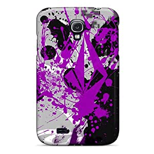 Shock Absorbent Hard Cell-phone Cases For Galaxy S4 With Unique Design Attractive Splatter Volcom Image No1cases