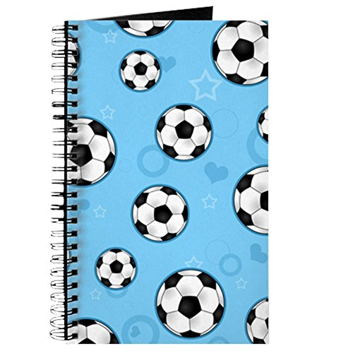 CafePress Cute Soccer Ball Print - Blue Spiral Bound Journal Notebook, Personal Diary, Lined
