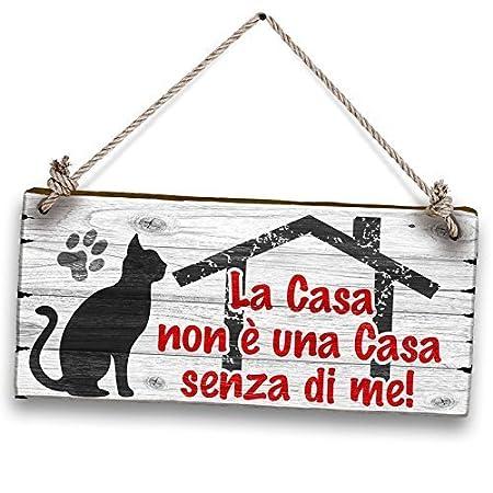 Lupia Shabby Plates Decorativo Cartel La casa Gatto, Madera ...