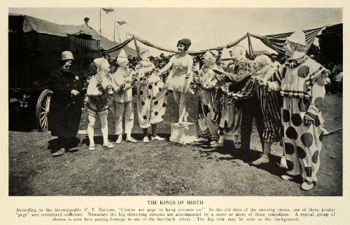 1932 Print Three-ring Circus Rings Performances Clowns Costumes Comedians Tent - Original Halftone Print