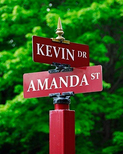 Signs of Love Personalized Street Sign Print
