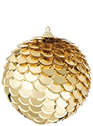 Gold Sequin Ball Ornament