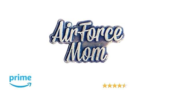 cb843d27101 Amazon.com: Air Force Mom Silver Script Lapel Pin: Clothing