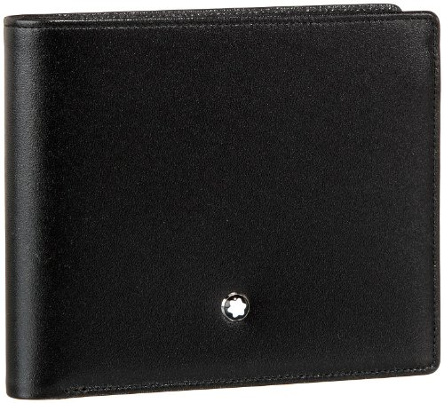 (Montblanc Meisterstuck Men's Medium Leather Wallet 7162 )