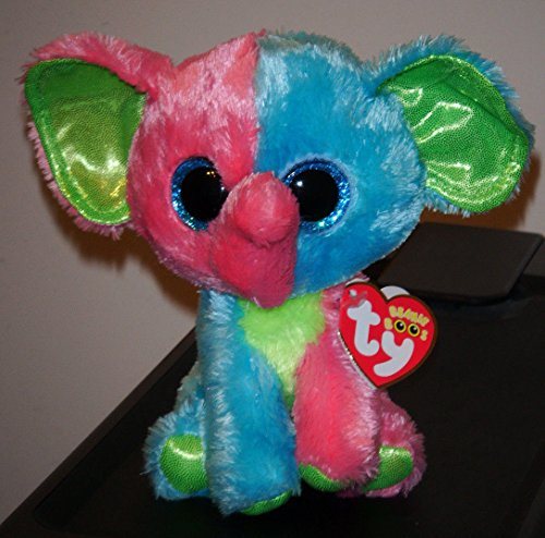 Ty Beanie Boo's ~ ELFIE the 6`` Muti Color Elephant ~ 2014 NEW ~ Exclusive ~ MINT ,#G14E6GE4R-GE 4-TEW6W208703