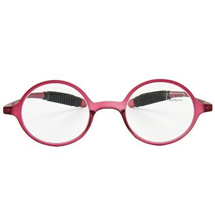Fulision Gafas de lectura retro Mujeres Hombres Gafas de marco redondo Presbyopia Hyperopia Gafas hapo9i