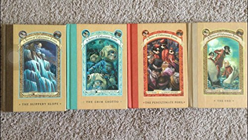 Set of A Series of Unfortunate Events Books 10-13:Book 10 -The Slippery Slope; Book 11 -The Grim Grotto; Book 12 -The Penultimate Peril; Book 13 -The End (A Series of Unfortunate Events) (A Series Of Unfortunate Events The Penultimate Peril)