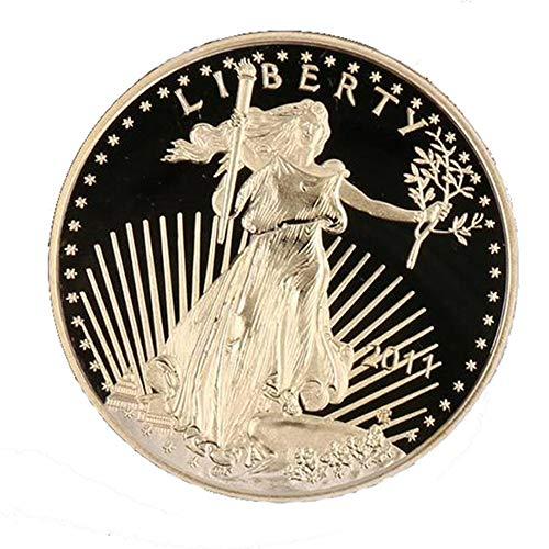 homker Estatua de la Insignia del Águila de la Libertad, Moneda Conmemorativa de Titanio,Oro,4cm